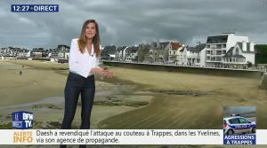 Daniela Prepeliuc à la Météo de BFM TV - 23/08/18 - 02