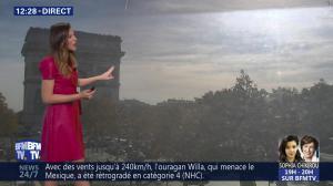 Daniela Prepeliuc à la Météo de BFM TV - 23/10/18 - 01