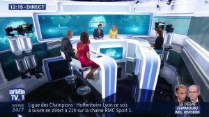 Daniela Prepeliuc à la Météo de BFM TV - 23/10/18 - 02