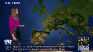 Daniela Prepeliuc à la Météo de BFM TV - 26/11/18 - 02