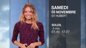Gennifer Demey à la Météo du Soir - 02/11/18 - 04