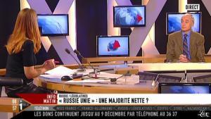 Valérie Amarou sur i-Télé - 04/12/11 - 08