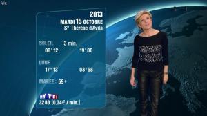 Evelyne Dhéliat à la Météo de 20h - 15/10/13 - 02
