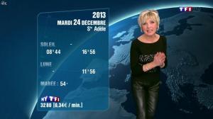 Evelyne Dhéliat à la Météo de 20h - 23/12/13 - 08