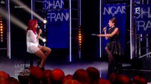 Shy m et Virginie Guilhaume dans la Fete de la Chanson Francaise - 21/11/14 - 07