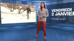 Tatiana Silva à la Météo du Soir - 02/01/15 - 01