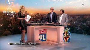 Carine Galli lors de la Soirée Europa League - 15/02/18 - 08