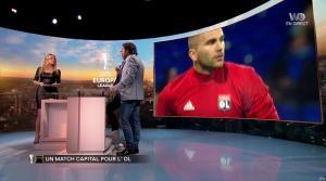 Carine Galli lors de la Soirée Europa League - 15/02/18 - 09