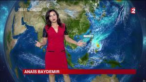 Anais Baydemir à la Météo de 20h - 05/12/14 - 22