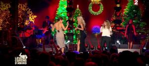 Camille Lou, Sofia Essaidi et Julie Zenatti dans les Copains d'Abord Font du Ski - 25/12/14 - 09