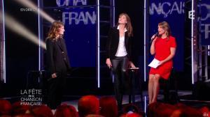 Carla Bruni et Daniela Lumbroso dans la Fete de la Chanson Francaise - 21/11/14 - 14