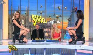 Michelle Hunziker, Federica Nargi, Costanza Caracciolo et les Veline dans Striscia la Notizia - 16/02/12 - 09