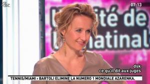Caroline Roux dans la Matinale - 29/03/12 - 05