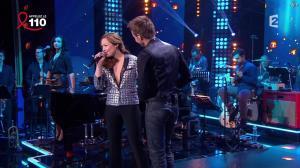 Natasha Saint Pier dans la télé Chante Pour le Sidaction - 05/04/14 - 10