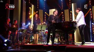 Valérie Expert dans la Télé Chante pour le Sidaction - 05/04/14 - 02