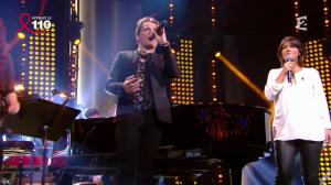 Valérie Expert dans la Télé Chante pour le Sidaction - 05/04/14 - 04