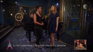 Alessandra Sublet dans Un Soir à la Tour Eiffel - 25/03/15 - 10