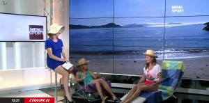 France Pierron, Marion Rousse et Cécile Grisar dans Menu Sport - 01/07/15 - 04