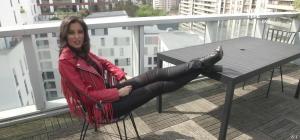 Malika Ménard dans L Equipe Type - 12/04/15 - 01