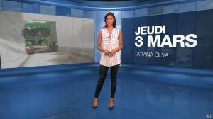 Tatiana Silva à la Météo du Soir - 03/03/16 - 01