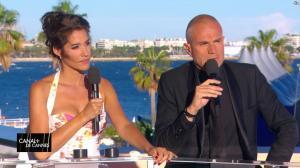 Laurie Cholewa dans Canal Plus de Cannes - 19/05/17 - 04