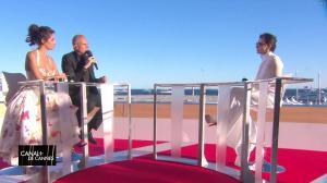 Laurie Cholewa dans Canal Plus de Cannes - 19/05/17 - 05
