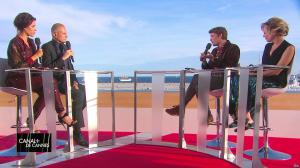 Laurie Cholewa dans Canal Plus de Cannes - 22/05/17 - 02