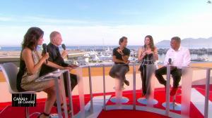 Laurie Cholewa dans Canal Plus de Cannes - 23/05/17 - 02