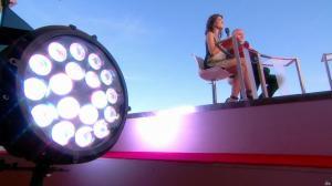 Laurie Cholewa dans Canal Plus de Cannes - 23/05/17 - 04
