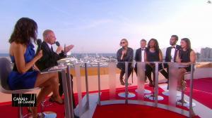 Laurie Cholewa dans Canal Plus de Cannes - 24/05/17 - 08