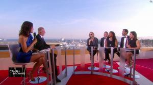Laurie Cholewa dans Canal Plus de Cannes - 24/05/17 - 10