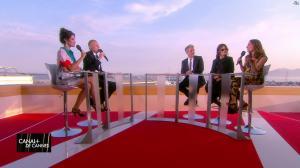 Laurie Cholewa dans Canal Plus de Cannes - 25/05/17 - 04