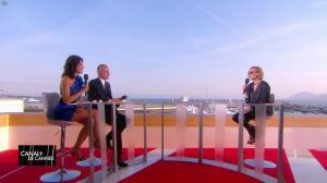 Laurie Cholewa et Diane Kruger dans Canal Plus de Cannes - 24/05/17 - 02