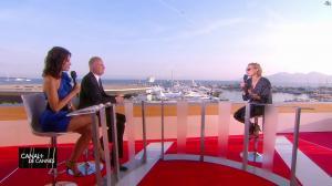 Laurie Cholewa et Diane Kruger dans Canal Plus de Cannes - 24/05/17 - 05