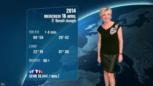 Evelyne Dhéliat à la Météo de 20h - 15/04/14 - 04