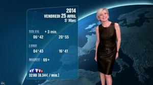 Evelyne Dhéliat à la Météo de 20h - 24/04/14 - 04