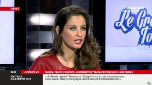 Malika Ménard dans le Grand Tour de l Equipe - 11/01/14 - 08