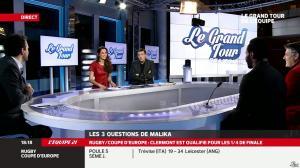 Malika Ménard dans le Grand Tour de l Equipe - 11/01/14 - 09