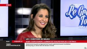 Malika Ménard dans le Grand Tour de l'Equipe - 11/01/14 - 11