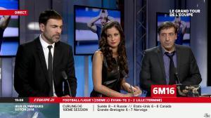 Malika Ménard dans le Grand Tour de l Equipe - 16/02/14 - 02