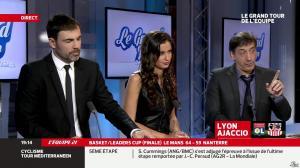 Malika Ménard dans le Grand Tour de l'Equipe - 16/02/14 - 09