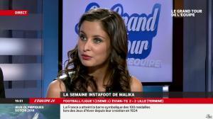 Malika Ménard dans le Grand Tour de l Equipe - 16/02/14 - 44