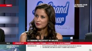 Malika Ménard dans le Grand Tour de l Equipe - 16/02/14 - 46