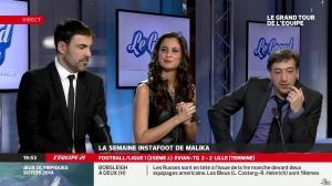 Malika Ménard dans le Grand Tour de l Equipe - 16/02/14 - 48