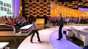 Nathalie Marquay-Pernaut dans le Grand Journal de Canal Plus - 17/02/12 - 02