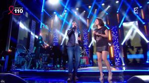 Estelle Denis dans la télé Chante Pour le Sidaction - 05/04/14 - 09