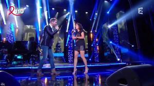 Estelle Denis dans la Télé Chante Pour le Sidaction - 05/04/14 - 11
