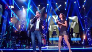 Estelle Denis dans la télé Chante Pour le Sidaction - 05/04/14 - 12