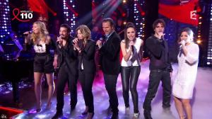 Mélissa Mars dans la télé Chante Pour le Sidaction - 05/04/14 - 04