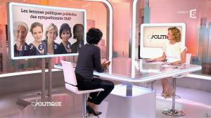 Caroline Roux et Rachida Dati dans C Politique - 08/03/15 - 03